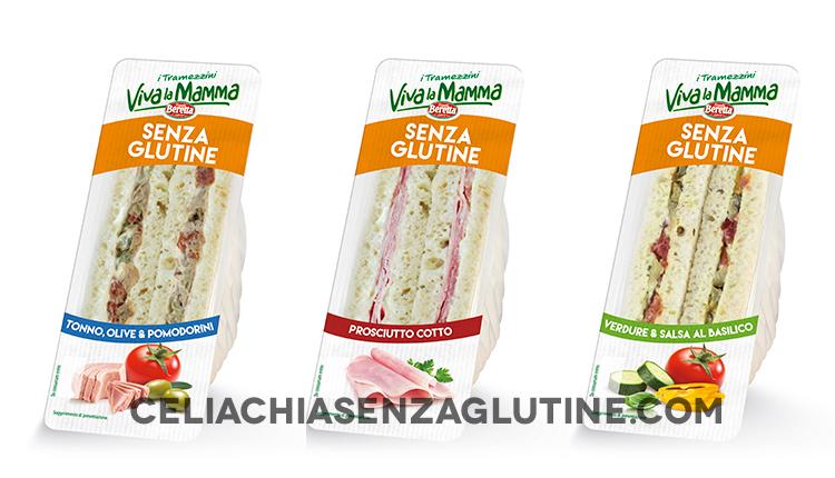 """Tramezzini senza glutine """"Viva la Mamma"""" Beretta"""