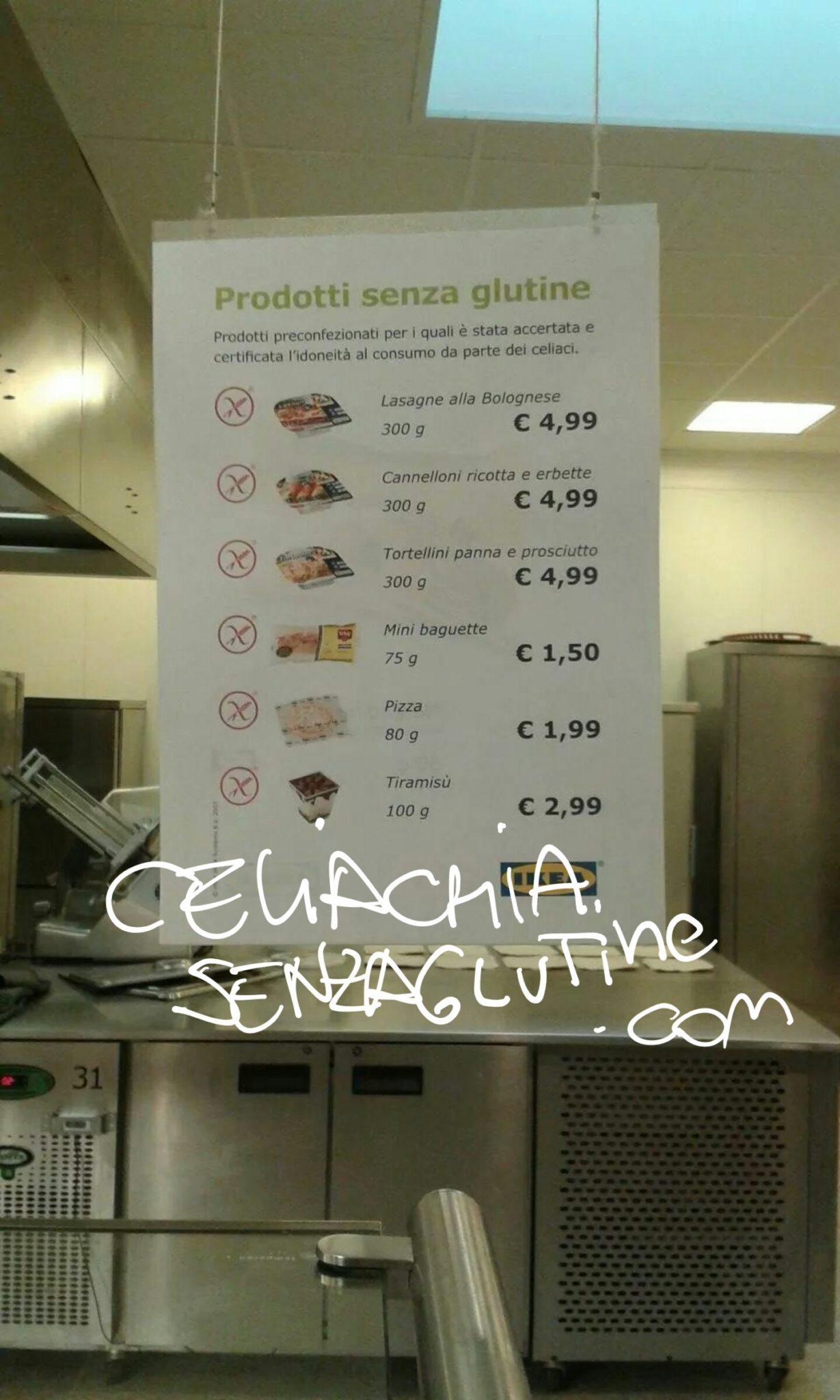 Ikea Senza Glutine il menù completo per noi celiaci.