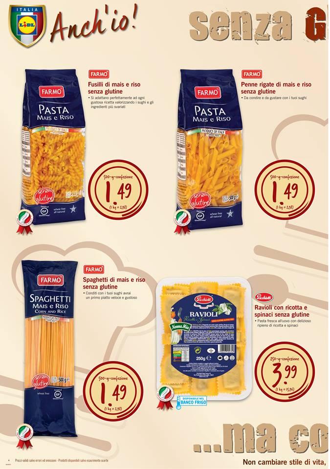 Lidl senza glutine. I prodotti in vendita dal 2015