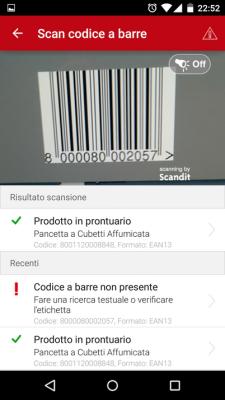 Aic Mobile App Scansione Codice a Barre